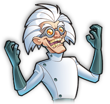 Mad Scientists from the party game: FrankenDie.